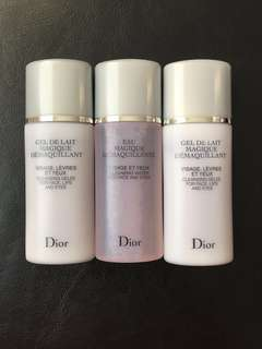 Dior Face, Eyes, Lips Cleansers