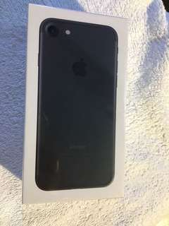 BNIB Unlocked jet black iphone 7 64GB