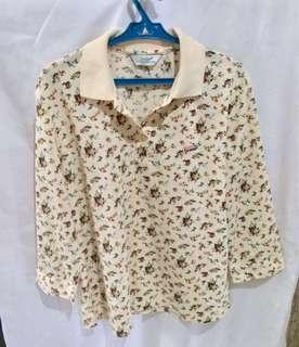 Preloved Floral Crocodile shirt
