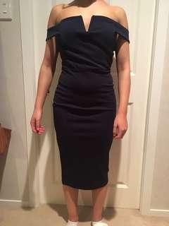 Navy Blue Boohoo Dress Size 10