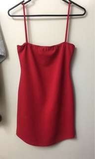 Missguided red dress petite