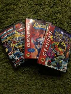 Sega Mega Drive - The Adventure of Batman&Robin, The Punisher, Capt America and the Avengers