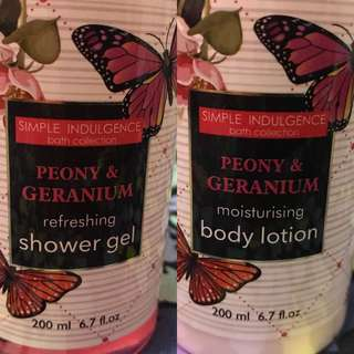 Buy 1 take 1 Simple Indulgence Shower Gel & Body Lotion