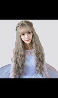 ♡ Preorder korean wavy messy curl daily long wig* waiting time 15 days after payment is made *chat to buy to order