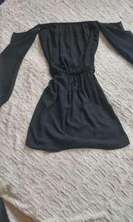 Black dress off shoulder
