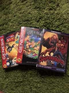 Sega Mega Drive - Earthworm Jim 2, Joe & MAC, Splatterhouse