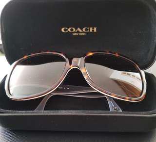 COACH Women's Sunglasses Hc8043 5089/13 BRIDGET Dark Tortoise Grey W/ Brown