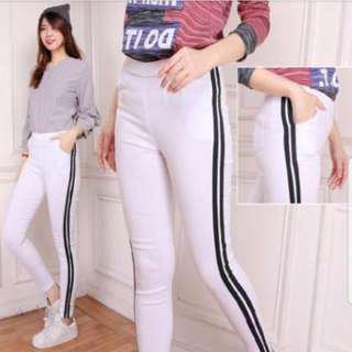 Celana Legging Panjang Olahraga Dan Casual Bahan Soft Jeans Tebal