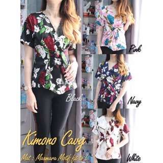 Blouse Kimono Trendi Wanita Cewek Maxmara Motif Bunga
