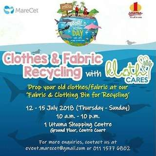 Recycle your Old Clothes Old Fabric at One Utama