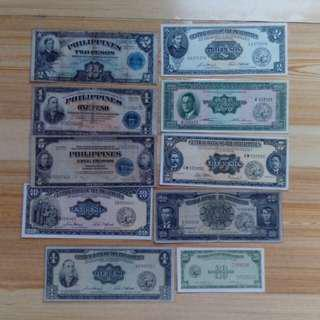 Demonetized Philippine Banknotes Lot for sale.