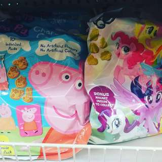 紐西蘭直送 零食 peppa pig emoji pony 卡通表情符號餅乾 送磁石貼