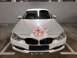 Latest New White Luxury BMW Bridal Wedding Car with Chauffeur