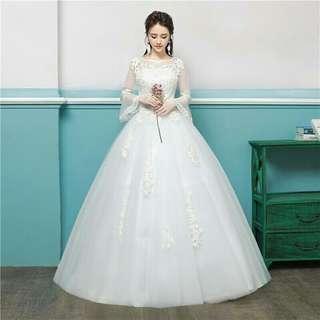 PRE ORDER WHITE WEDDING DRESS 034
