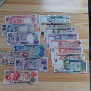 Different Philippine Banknotes VF condition