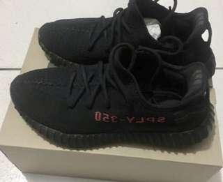 Adidas Yeezy  boost 350 v2黑紅字款