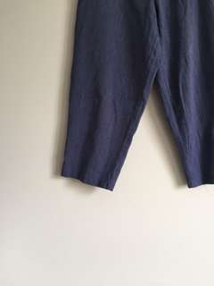 ocean blue tapered trousers
