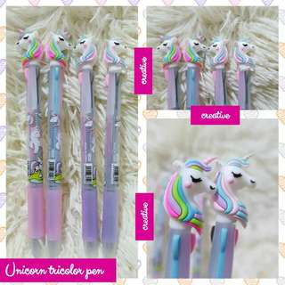 Unicorn tricolor pen