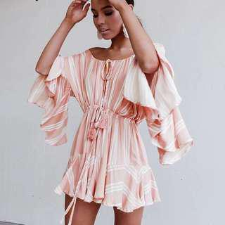 Pinstripe playsuit