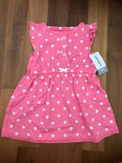 Carters Pink Polka Dot Dress