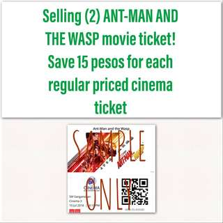 2 ANT-MAN AND THE WASP movie ticket