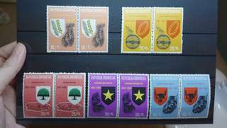 Indonesia Stamps 1965 Independence set 5V mint unused pairs