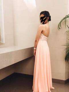 Blush Pink Long Dress FOR RENT
