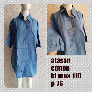 Denim atasan big size