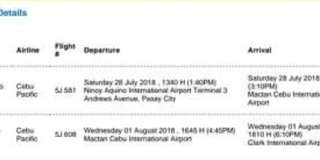 Manila >> Cebu>>Clark via Cebu Pacific for 2 Pax. PM me for details.