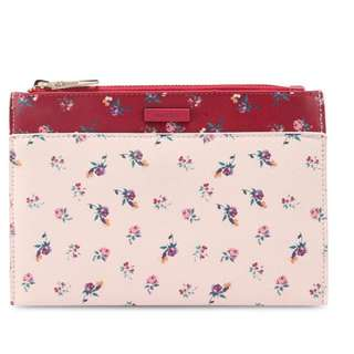 Mango Floral Saffiano Effect Cosmetic Bag