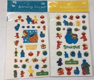 (包郵)Sesame Street 芝麻街 貼紙2張