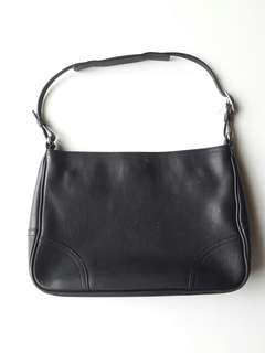 Authentic Coach Black Leather Hobo Bag