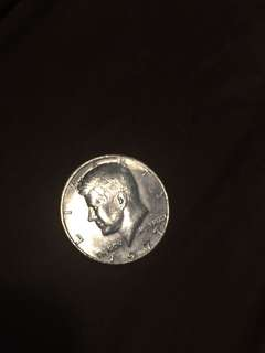 USD Kennedy half dollar coin