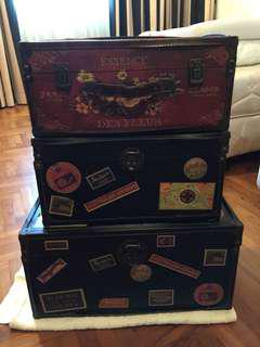 Leather trunk (3 pieces) $220 each