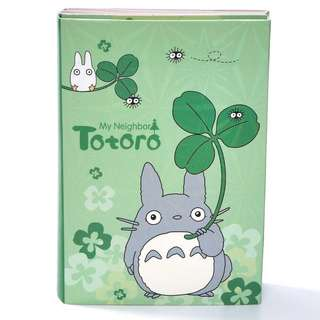 🌟BN INSTOCKS Totoro Green Folded Book Adorable Sticky Memo Pad