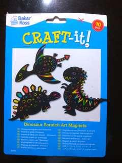 Dinosaurs Scratch Art Magnets