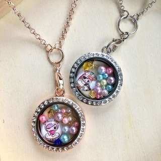 Customized locket keychain or necklace