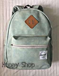REPRICED Herschel Leather Backpack