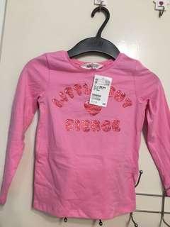 H&M pink Long sleeve (2-4yr)
