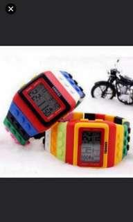 (2隻/2pieces) 創意設計師積木款手錶 (如沒說明顏色將會隨機發貨) (#rep#) (watch)