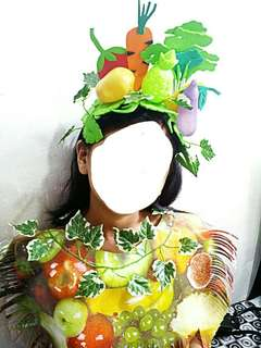 Headdress Glow foods Nutrition Month Costume