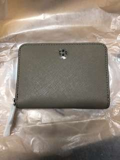 Tory Burch coins bag wallet french grey 灰 全新銀包