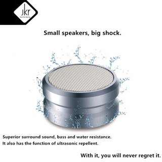 JKR-5 Metal Wireless Bluetooth Speaker Waterproof Heavy Bass Speakers Palestrante Subwoofer Altavoz Support FM Radio TF AUX