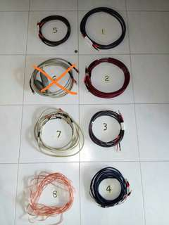 Speaker cable to clear
