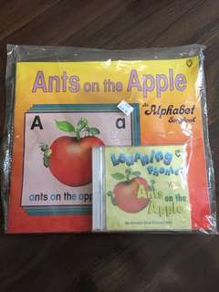 Ants on Apple - teaching alphabet and its sounds with book and CD songs
