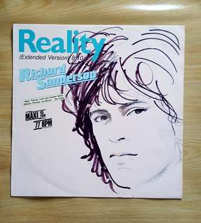 Reality - Richard Sanderson ( 12'Single Vinyl Record)