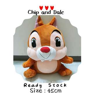 Large Chip and Dale Plush Toy 45cm