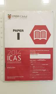 ICAS ENGLISH 2014 PAPER I c/w ANSWER SHEET FOR SECONDARY 4&5