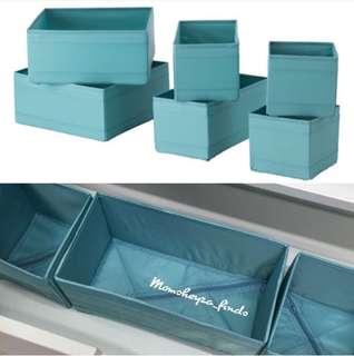 IKEA SKUBB box, set of 6 (foldable)