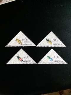 蒙古郵票 已銷三角形郵票